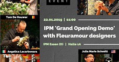 Große Fleuramour-Vorführung bei der IPM ESSEN