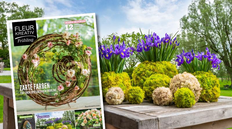 Fleur Kreativ Frühling 2020 Rosen Ostern Inspiration Blumen Floral art Garten Helleborus Kreationen Floos Fritillaria Iris EMC Yuko Takagi
