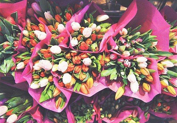 Tulpenarrangements Tulpen Blüten Frühjahrsblüher Tulpenfarbe Kreationen Designs Blumen Inspiration Bouquets Frühling Romantik Sträuße Fleur Kreativ