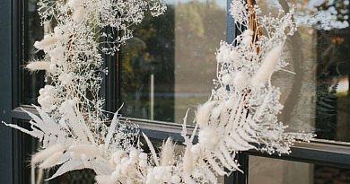 Blumenkranz getrocknete Blumen Trockblumen weiß DIY kreativität Idee Inspiration Winter Fleur Kreativ
