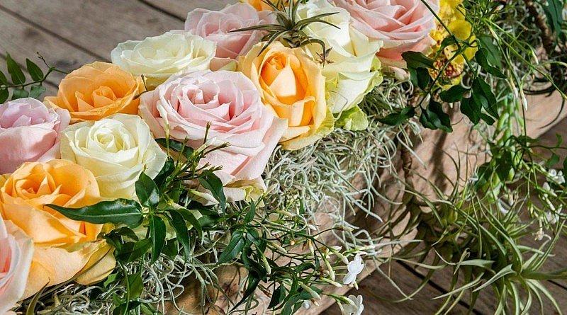 Rose Avalanche Decofresh Blume Liebe Freude Glück Tischdekorationen Rosenpastells Tisch Oasis kreation kreativität Pflanzen Fleur Kreativ
