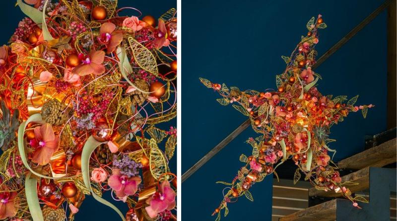 Ein leuchtender Stern - Stefan Van Berlo fleur kreativ magazine winter 2019 diy do it yourself selber machen blumen floristik floristen informationen Weihnachten ideen