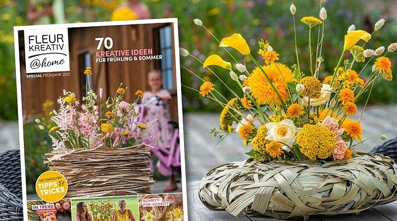 Das neue Fleur Kreativ Magazin ist da ! Bestellen Sie jetzt Fleur Kreativ @ Home Special Frühjarh 2021! Mit 70 kreativen Blumenideen für Frühling und Sommer.
