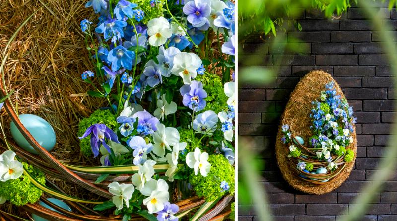 Fleur Kreativ Magazine. Selber machen: Blumiges Osterei für das Frühlingsfest.