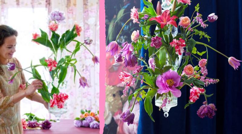 Fleur Kreativ: selber machen: Kronleuchter mit Blumen