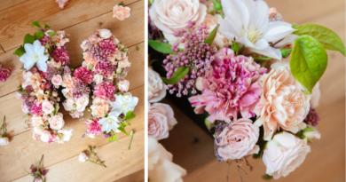 Fleur Kreativ Magazin: Muttertag Deutschland: DIY machen Sie es selbst: Blumen-Monogramm zum Muttertag.