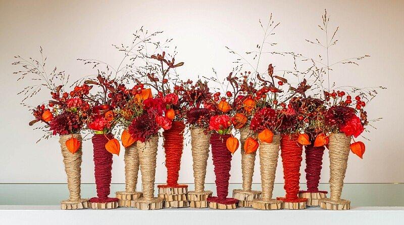 Fleur Kreativ Magazin: DIY Herbst Blumen | Ein Spiel der Rottöne